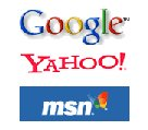 Google, Yahoo, Live searche engines